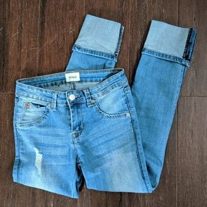 Hudson girl's 14 Colin flap pocket cuffed jeans